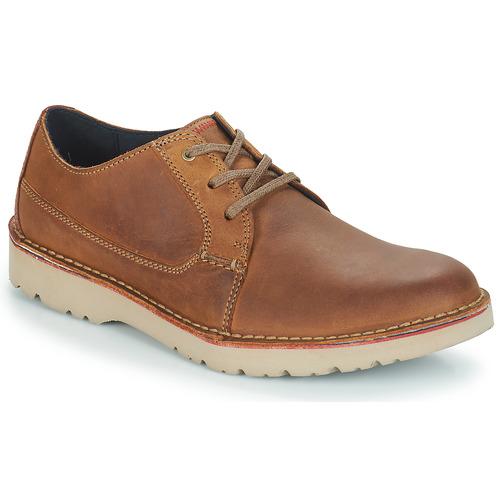 kengät Miehet Derby-kengät Clarks VARGO PLAIN Brown
