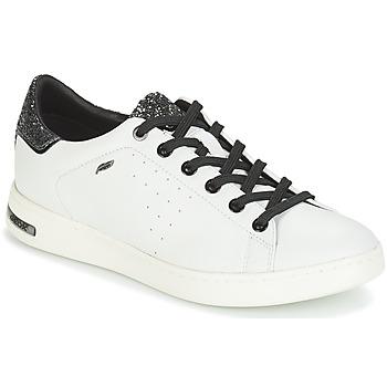 kengät Naiset Matalavartiset tennarit Geox JAYSEN White / Hopea