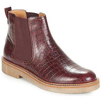 kengät Naiset Bootsit Kickers OXFORDCHIC Bordeaux