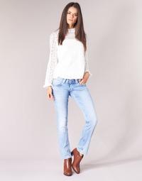vaatteet Naiset Suorat farkut Pepe jeans VENUS Sininen / Clair