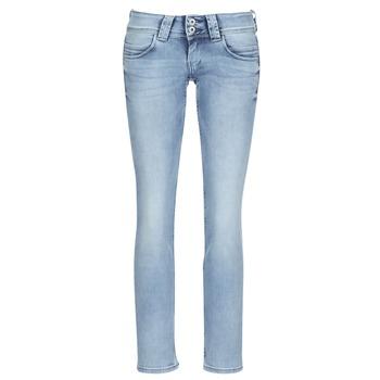 vaatteet Naiset Suorat farkut Pepe jeans VENUS Blue / Clair