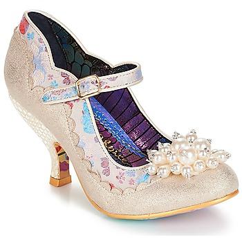 kengät Naiset Korkokengät Irregular Choice Shoesbury Creme