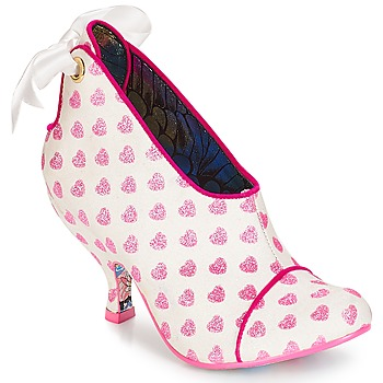 kengät Naiset Nilkkurit Irregular Choice Love is all around White / Pink