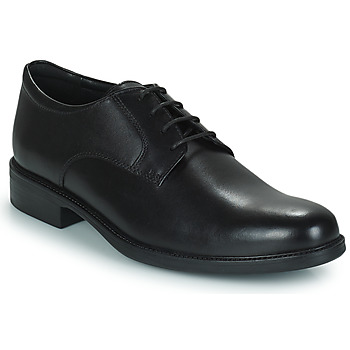 kengät Miehet Derby-kengät Geox CARNABY D Black