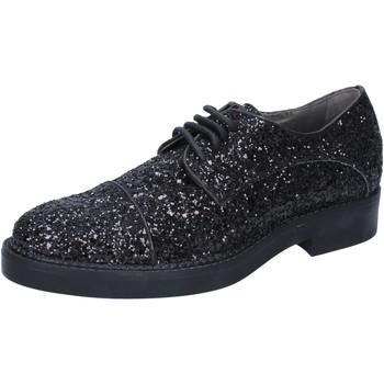 kengät Naiset Derby-kengät & Herrainkengät Janet&Janet classiche nero glitter BY753 Nero