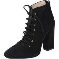 kengät Naiset Nilkkurit Gianni Marra tronchetti nero camoscio BY757 Nero
