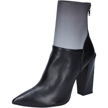 kengät Naiset Nilkkurit Gianni Marra tronchetti nero pelle grigio tessuto BY766 Nero