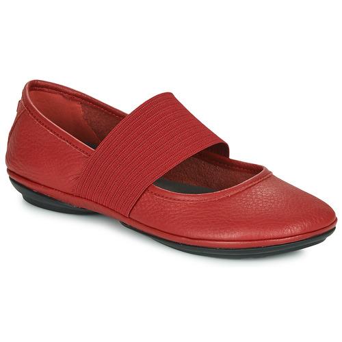 kengät Naiset Balleriinat Camper RIGHT  NINA Red