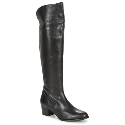 kengät Naiset Ylipolvensaappaat So Size JICHELIEU Black