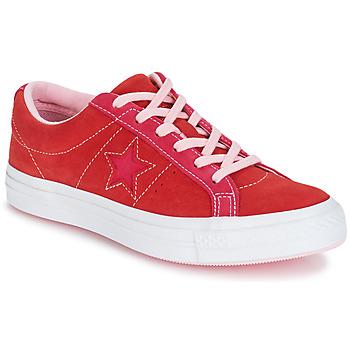 kengät Naiset Matalavartiset tennarit Converse ONE STAR OX Red / Pink
