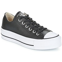 kengät Naiset Matalavartiset tennarit Converse CHUCK TAYLOR ALL STAR LIFT CLEAN OX LEATHER Black / White