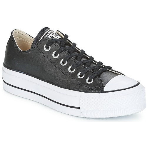 kengät Naiset Matalavartiset tennarit Converse CHUCK TAYLOR ALL STAR LIFT CLEAN OX Black / White