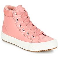 kengät Tytöt Korkeavartiset tennarit Converse CHUCK TAYLOR ALL STAR PC BOOT HI Pinkki / Caramel / Pinkki
