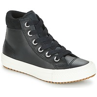 kengät Lapset Korkeavartiset tennarit Converse CHUCK TAYLOR ALL STAR PC BOOT HI Black / White