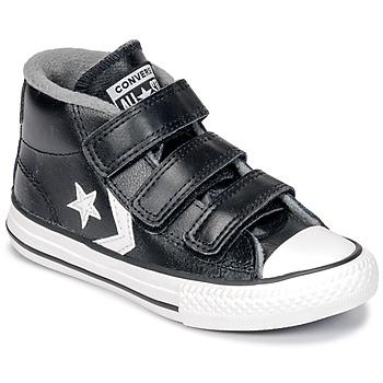 kengät Lapset Korkeavartiset tennarit Converse STAR PLAYER 3V MID Musta / Valkoinen