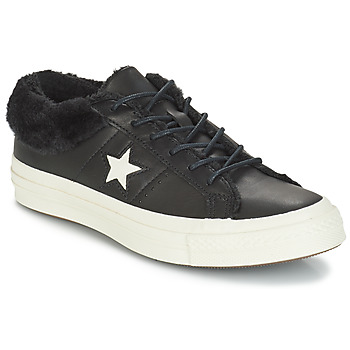 kengät Naiset Matalavartiset tennarit Converse ONE STAR LEATHER OX Black
