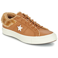 kengät Naiset Matalavartiset tennarit Converse ONE STAR LEATHER OX Camel