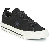 kengät Lapset Matalavartiset tennarit Converse ONE STAR NUBUCK OX Black / White