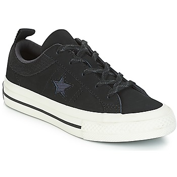 kengät Lapset Matalavartiset tennarit Converse ONE STAR NUBUCK OX Black / White