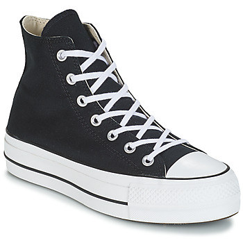 kengät Naiset Korkeavartiset tennarit Converse CHUCK TAYLOR ALL STAR LIFT CANVAS HI Black