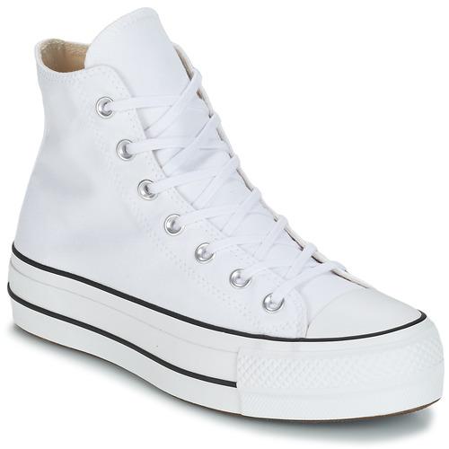kengät Naiset Korkeavartiset tennarit Converse CHUCK TAYLOR ALL STAR LIFT CANVAS HI White
