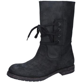 kengät Naiset Nilkkurit Moma Nilkkasaappaat BY921 Musta