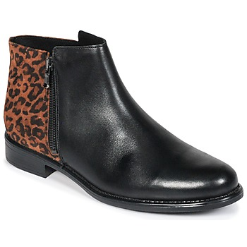 kengät Naiset Bootsit Betty London JINANE Black / Brown