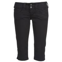 vaatteet Naiset Caprihousut Pepe jeans VENUS CROP Black