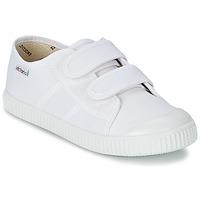 kengät Lapset Matalavartiset tennarit Victoria BLUCHER LONA DOS VELCROS White