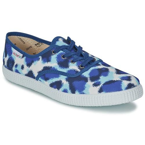 kengät Naiset Matalavartiset tennarit Victoria INGLESA ESTAMP HUELLA TIGRE Blue