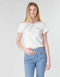 vaatteet Naiset Lyhythihainen t-paita Levi's PERFECT TEE White