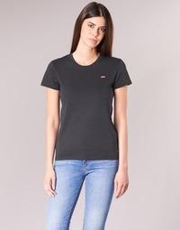 vaatteet Naiset Lyhythihainen t-paita Levi's PERFECT TEE Black