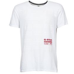 vaatteet Miehet Lyhythihainen t-paita G-Star Raw RITZIEN White