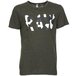 vaatteet Miehet Lyhythihainen t-paita G-Star Raw MOIRIC R T S/S Kaki