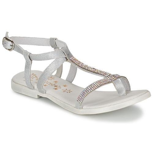 kengät Tytöt Sandaalit ja avokkaat Acebo's MADALEN Hopea