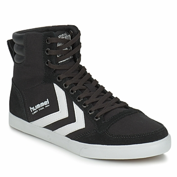 kengät Korkeavartiset tennarit Hummel TEN STAR HIGH CANVAS Black / White