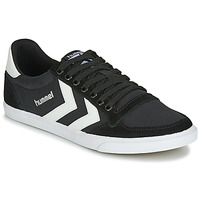 kengät Miehet Matalavartiset tennarit Hummel TEN STAR LOW CANVAS Black / White
