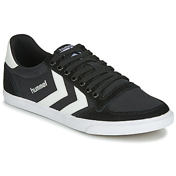kengät Korkeavartiset tennarit Hummel TEN STAR LOW CANVAS Black / White