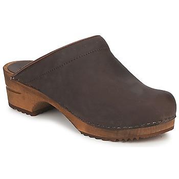 kengät Naiset Puukengät Sanita CHRISSY OPEN Brown