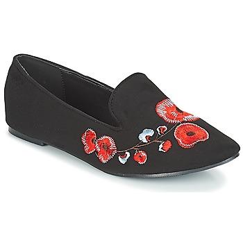 kengät Naiset Mokkasiinit Moony Mood JASMINY Black / Fleur