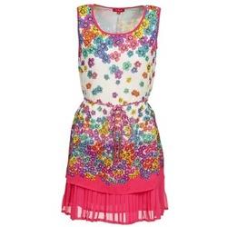 vaatteet Naiset Lyhyt mekko Derhy BARMAN ECRU / Pink