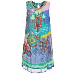 vaatteet Naiset Lyhyt mekko Derhy BARDE Blue / Green / Monivärinen