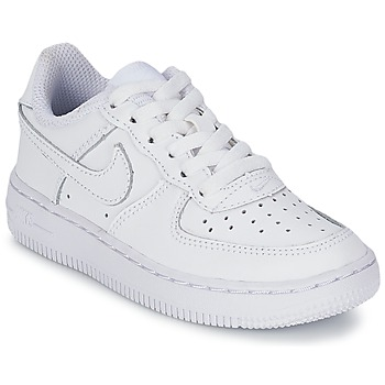 kengät Lapset Matalavartiset tennarit Nike AIR FORCE 1 White