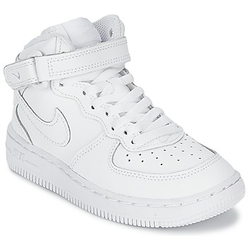 kengät Lapset Matalavartiset tennarit Nike AIR FORCE 1 MID White