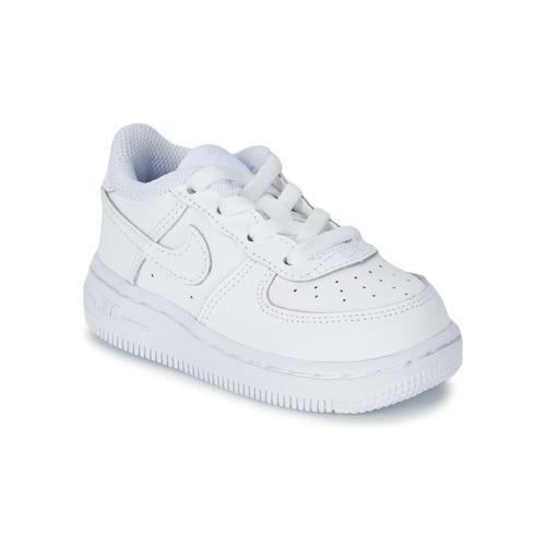 kengät Lapset Matalavartiset tennarit Nike AIR FORCE 1 White