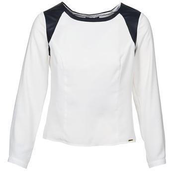 vaatteet Naiset Topit / Puserot La City LAETITIA Ecru / Black