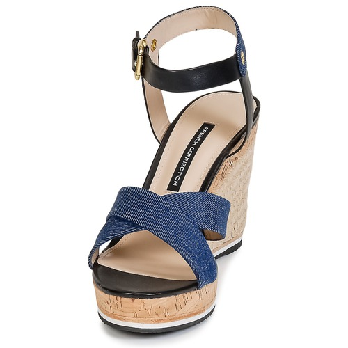 French Connection Lata Blue / Denim - Ilmainen Toimitus- Kengät Sandaalit Naiset 73
