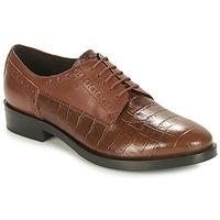 kengät Naiset Derby-kengät Geox DONNA BROGUE Brown