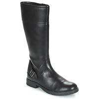 kengät Tytöt Saappaat Geox JR SOFIA Black
