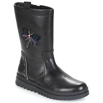 kengät Tytöt Saappaat Geox J GILLYJAW GIRL Black